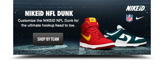 NIKEiD NFL DUNK | SHOP BY TEAM