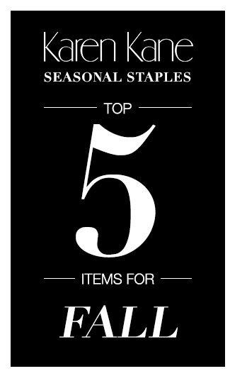 Seasonal Staples - Top 5 for Fall