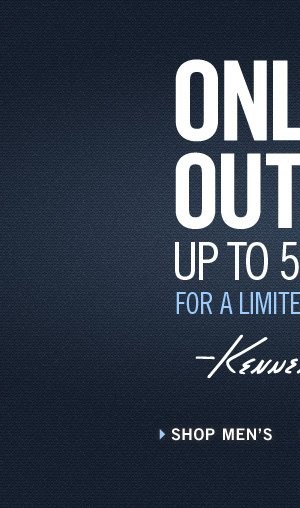 ONLINE OUTLET UP TO 50% OFF FOR A LIMITED TIME ONLY // SHOP MEN'S