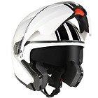 Hawk GLD-915 Black Stripes White Modular Helmet