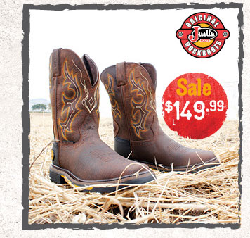 Justin Work Boots - Sale $149.99