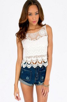 SHIRLEY BACK TIE CROP TOP 32