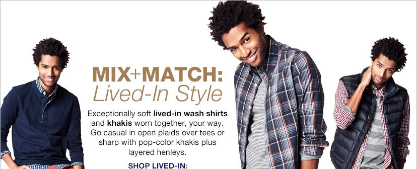 MIX+MATCH: Lived-In Style | SHOP LIVED-IN: