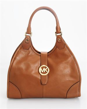 Michael Kors Genuine Leather Hudson Large Shoulder Bag