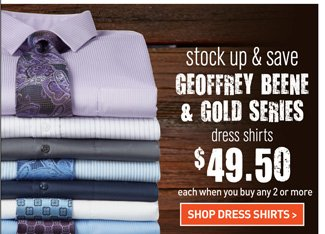Geoffrey Beene and Gold Series Dress Shirts Mix and Match