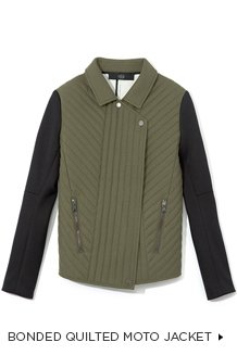 Bonded Quilted Moto Jacket