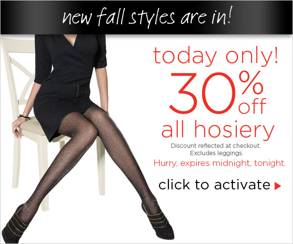 Today Only: Extra 30% off all hosiery