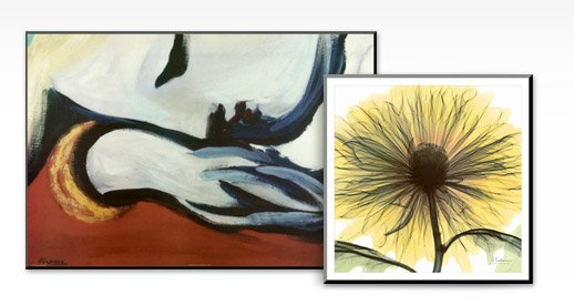 REST By: Pablo Picasso; DREAM IN YELLOW By: Albert Koetsier