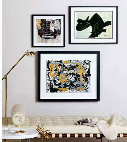MUSEUM SECURITY (BROADWAY MELTDOWN), 1983 By: Jean-Michel Basquiat; RECLINING NUDE By: Georges Braque; YELLOW, GREY, BLACK By: Jackson Pollock