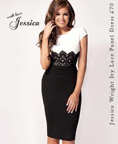 Jessica Wright Ivy Lace Panel Shift Dress