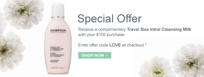 Receive a complimentary Travel Size Intral Cleansing Milk with your $100 purchase.
