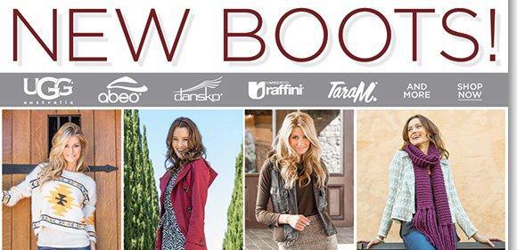 Shop the comfortable NEW boot arrivals you will love from UGG® Australia, Dansko, ABEO, Raffini, Tara M. and more! Featuring the all-day comfort of rich leather uppers, cushioned footbeds, and more, shop now to find the best selection online and in-stores at The Walking Company.
