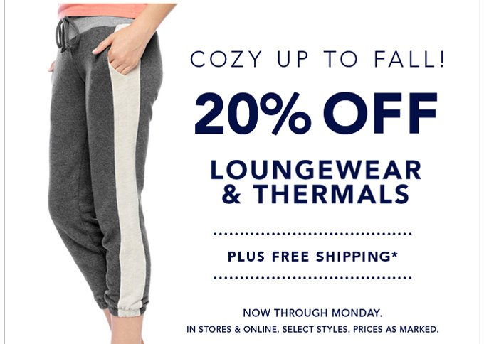 Cozy up to Fall with 20% off!