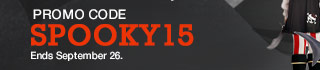Promo Code SPOOKY15. Ends September 26.