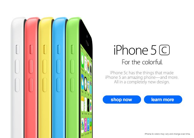 iPHONE® 5C. For the colorful.
