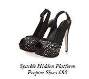 Sparkle Hidden Platform Peeptoe
