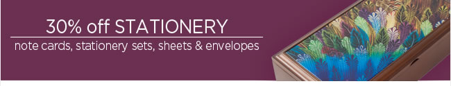 30% Off Stationery Note cards, stationery sets, sheets & envelopes