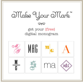 Make Your Mark - get your {free} digital monogram
