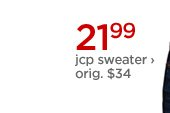 21.99 jcp sweater › orig. $34