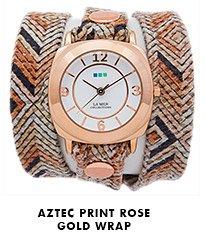 Aztec Print Rose Gold Wrap