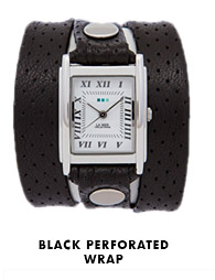 Black Perforated Wrap Watch