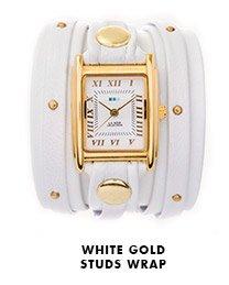 White Gold Studs Wrap
