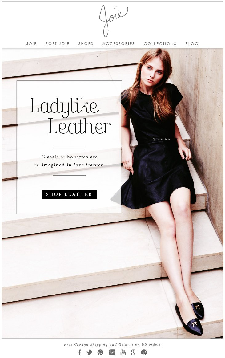 JOIE | Ladylike Leather - Classic silhouettes are re-imagined in luxe leather. SHOP LEATHER
