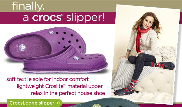 finally, a crocs slipper! CrocsLodge slipper