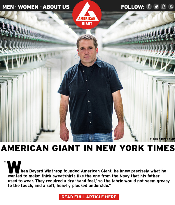 American Giant in New York Times