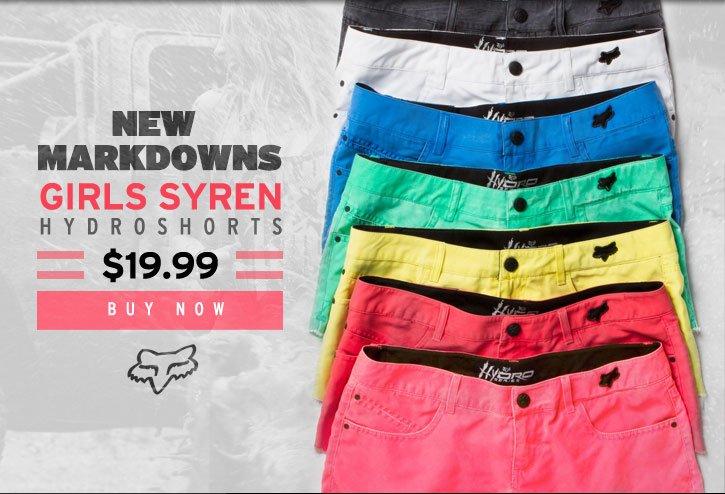 Girls Syren Hydro Shorts - 19.99