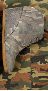 Washed Camo Canvas Women's Desert Wedges