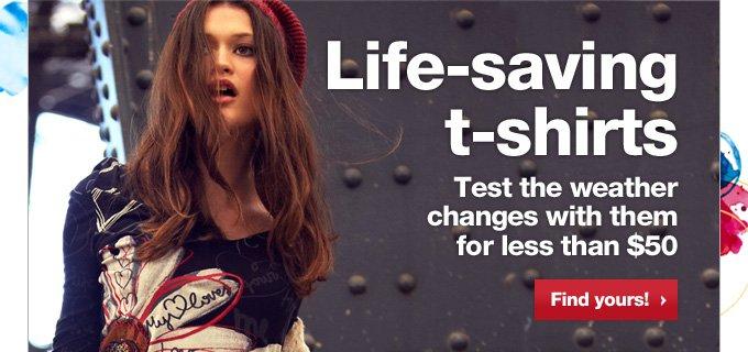 Life-saving T-shirts