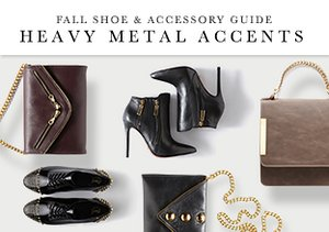 Fall Shoe & Accessory Guide: Heavy Metal Accents
