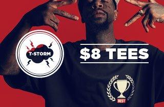 T-Storm: $8 Tees