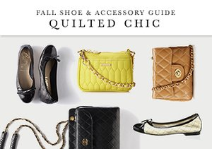 Fall Shoe & Accessory Guide: Quilted Chic