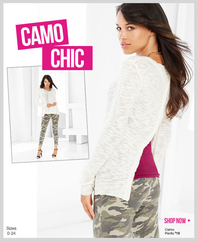 CAMO CHIC! New Fashion Trends starting at $16 - SHOP NOW!