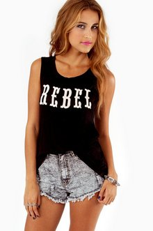REBEL EMBROIDERED TANK TOP 22