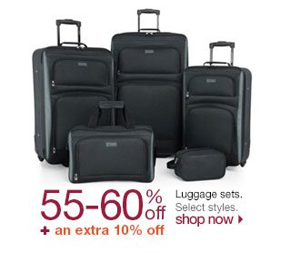 55-60% off + an extra 10% off Luggage sets. Select styles. Shop now.