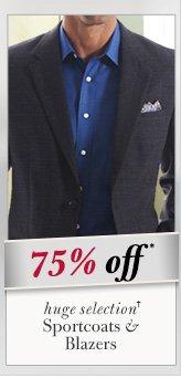 Sportcoats & Blazers - 75% Off*