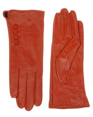 Valance Lamb Leather Buttoned Gloves
