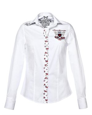 M-Conte Logo Emblem Embellished Shirt Made In Europe