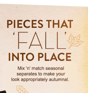 "Pieces That 'Fall"" Into Place"