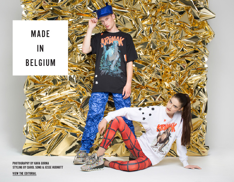 Made in Belgium - Photography by Kava Gorna, styling by Carol Song and Jesse Hudnutt - View the Editorial