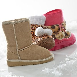 Faux Fur Steps: Girls' Shoes