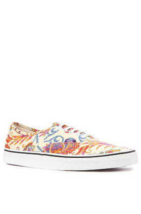 The Vans x Liberty of London Authentic Sneaker in Flower Paisley & Cream