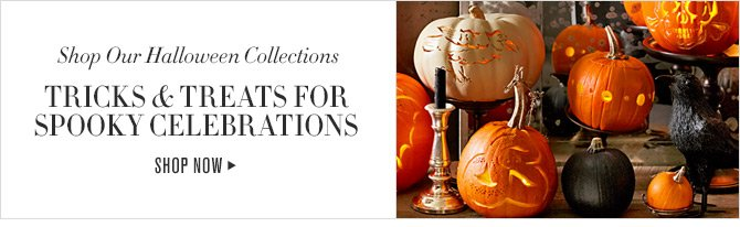 Shop Our Halloween Collections -- TRICKS & TREATS FOR SPOOKY CELEBRATIONS -- SHOP NOW