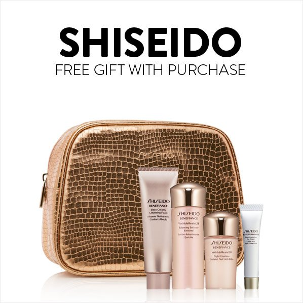 SHISEIDO - FREE GIFT WITH PURCHASE