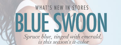 Blue Swoon - Spruce blue, tingd with emerald, in this season's it-color