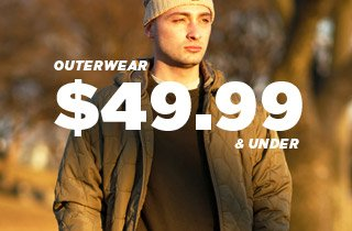 Outerwear: 49.99 and Under