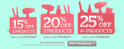 Stock Up and Save up to 25% off your order